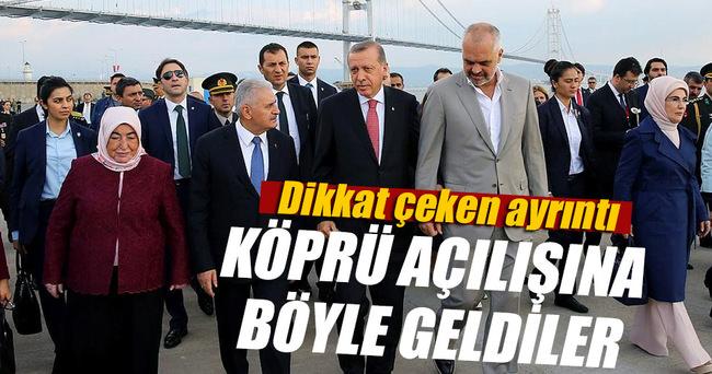 Erdoğan tören alanına Edi Rama ile kol kola geldi
