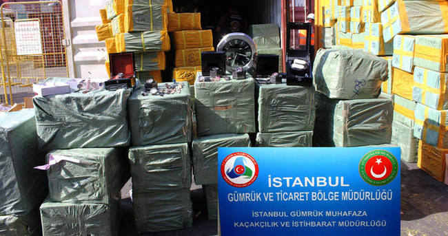 170 milyon lira değerinde kaçak saat ele geçirildi