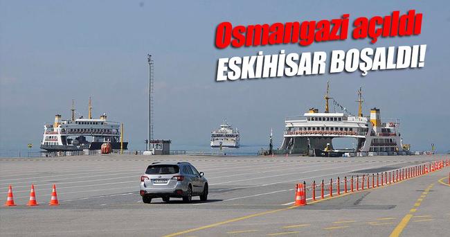 Osmangazi Köprüsü açıldı, Eskihisar boşaldı