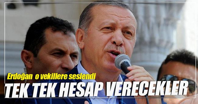 Cumhurbaşkanı Erdoğan fezlekesi olan HDP'li vekillere seslendi