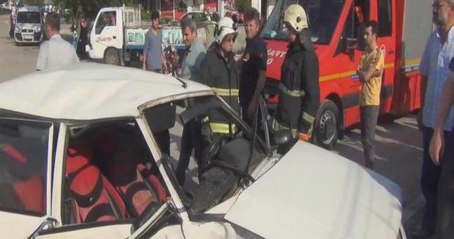 İnegöl'de kaza: 5 yaralı