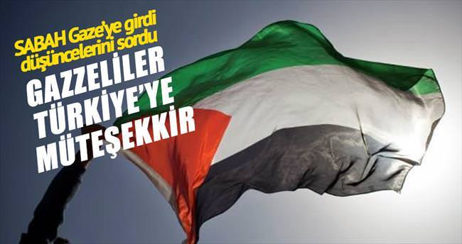 Gazze halkı Türkiye'ye müteşekkir