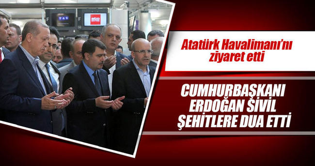 Cumhurbaşkanı Erdoğan Atatürk havalimanında incelemelerde bulundu