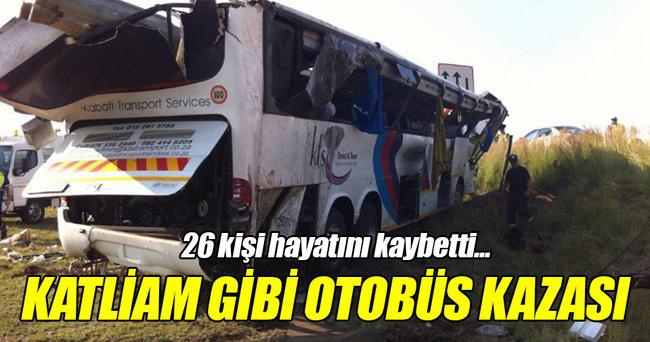Katliam gibi otobüs kazası: 26 ölü