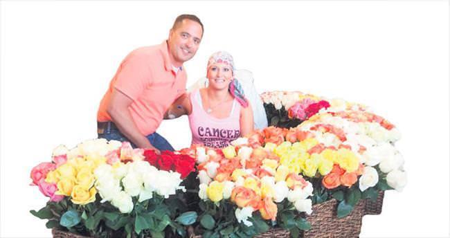 Kemoterapi bitti hediyesi 500 gül