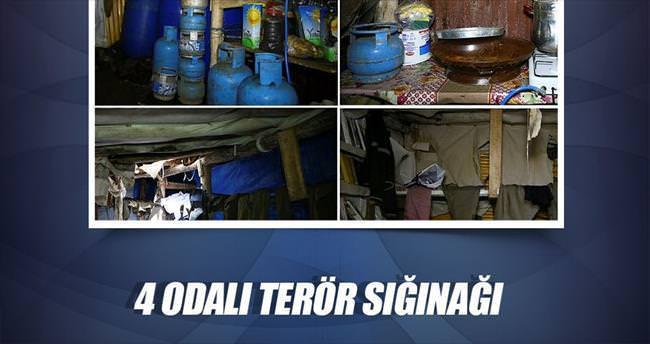Lice'de 4 odalı terör sığınağı