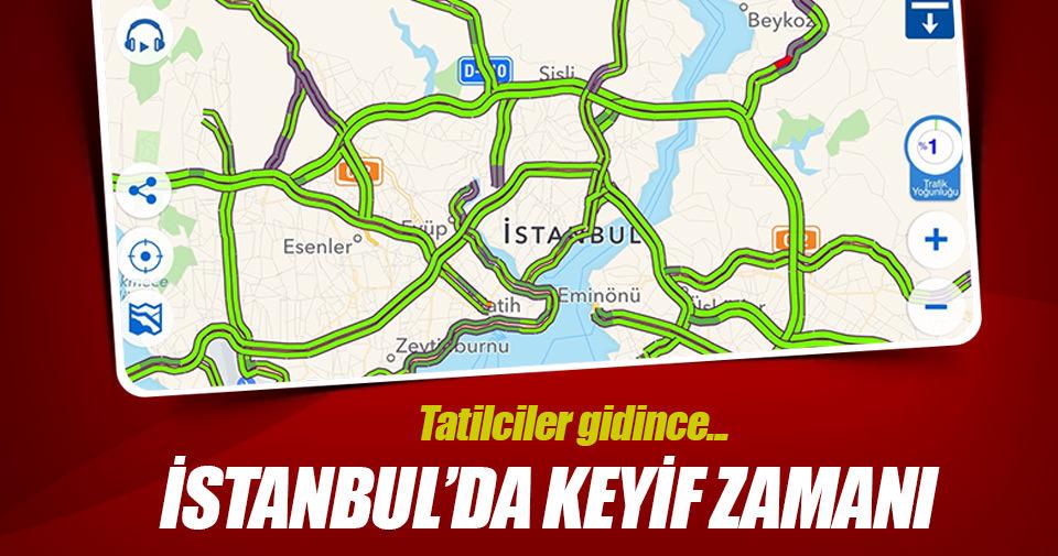 Tatilciler gitti İstanbul boşaldı