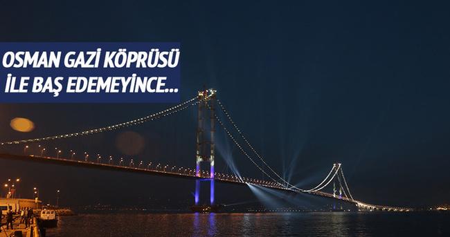 Osmangazi Köprüsü'yle baş edemeyince pes etti