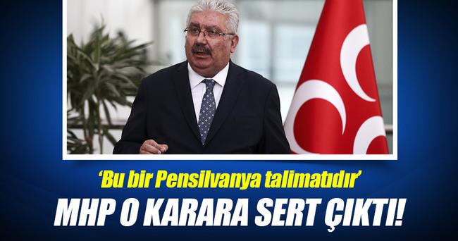 MHP Genel Merkezi o karara sert çıktı!