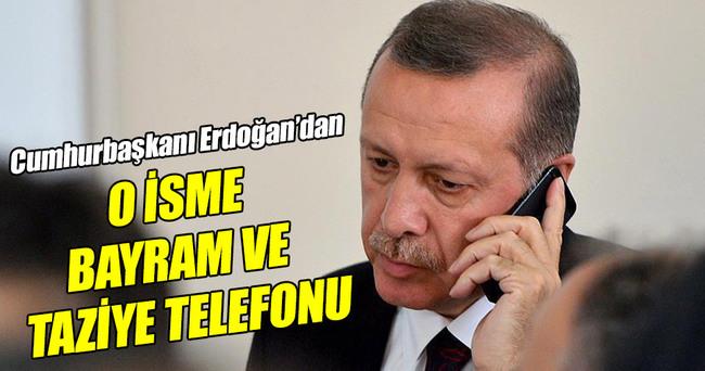 Cumhurbaşkanı Erdoğan'dan hem bayram hem taziye telefonu!