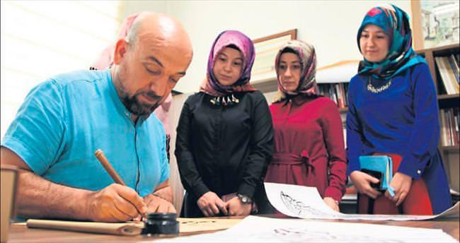 Erdoğan'ın hattat ilgisi gençleri de cezbediyor