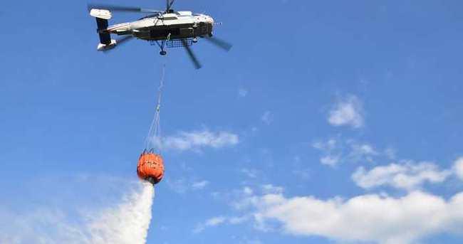Bursa'da yangın söndürme helikopteri hedefi şaşırdı