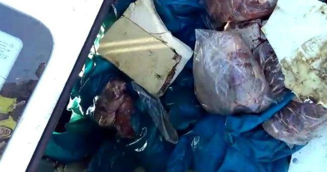 Takla atan minibüsten 1.5 ton kaçak et çıktı