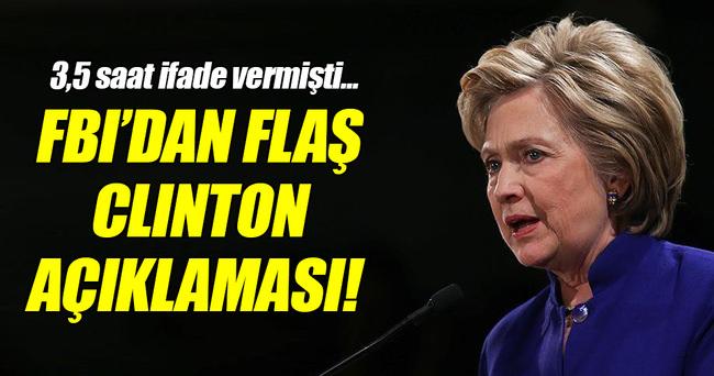 FBI'dan flaş 'Clinton' açıklaması!