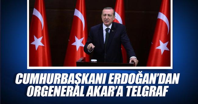 Cumhurbaşkanı Erdoğan'dan Orgeneral Akar'a telgraf