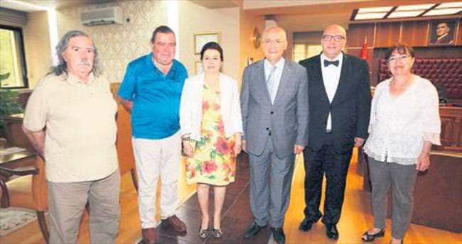 İletişimciler Yenimahalle Başkanı Yaşar'ı ziyaret etti