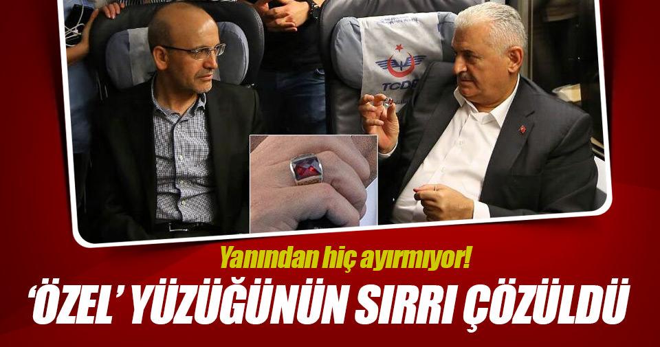 Başbakan Yıldırım'ın 'özel' yüzüğünün sırrı çözüldü