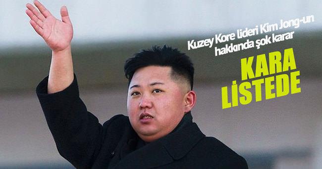 ABD, Kuzey Kore lideri Kim Jong-un'u kara listeye aldı