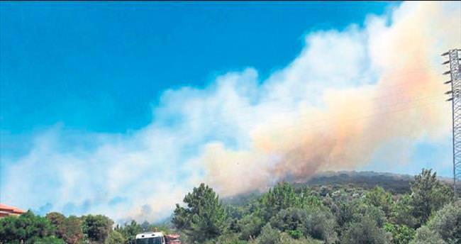 Yazlıkçıları korkutan yangın