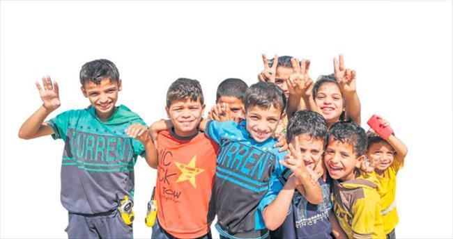 Gazze'de bu kez yüzler gülüyor