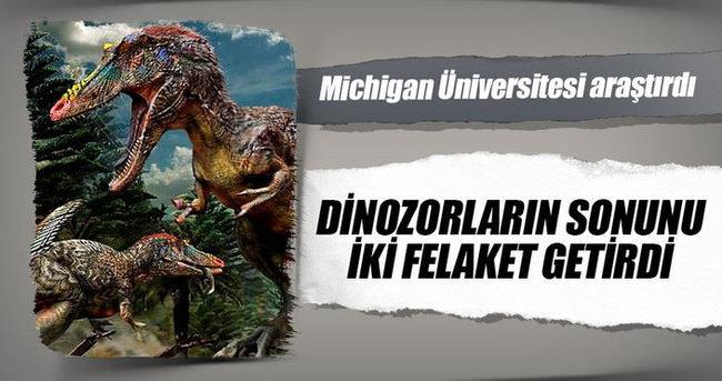 Dinozorların sonunu iki felaket getirmiş