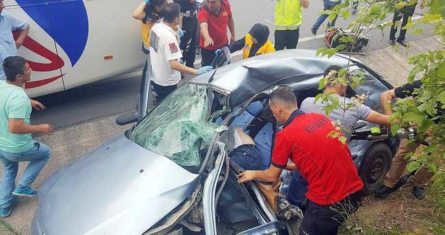 Zonguldak'ata trafik kazası: 1 ölü, 1 yaralı