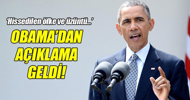 Obama'dan açıklama geldi!