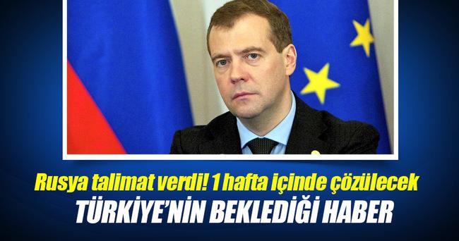 Medvedev, charter seferleriyle ilgili talimat verdi