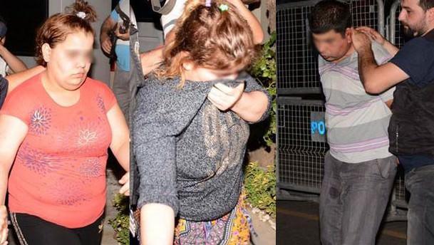 Ahmet bebeği kaçıranların polisi karşılarında gördükleri an!