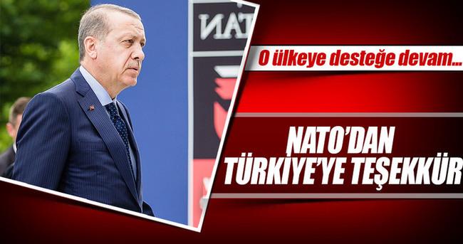 NATO'dan Türkiye'ye teşekkür