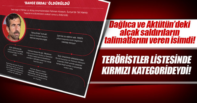 'Bahoz Erdal' teröristler listesinde kırmızı kategorideydi