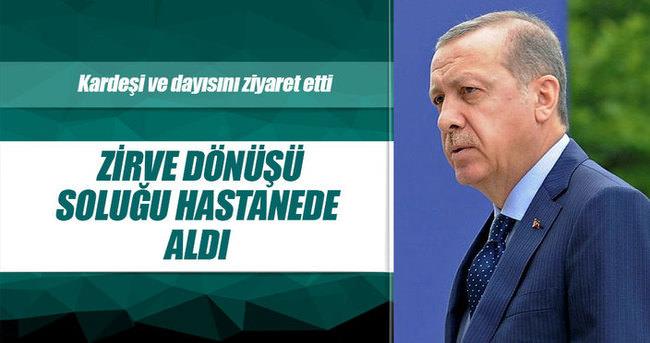 Cumhurbaşkanı Erdoğan hastanede kardeşi ve dayısını ziyaert etti
