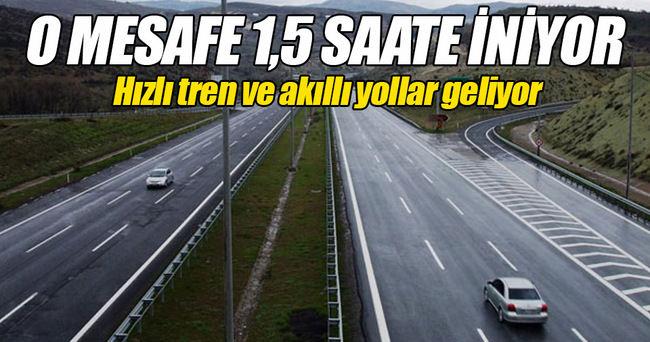 İstanbul-Ankara arası 1,5 saate iniyor