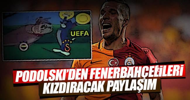 Podolski'den Fenerbahçelileri kızdıran paylaşım!