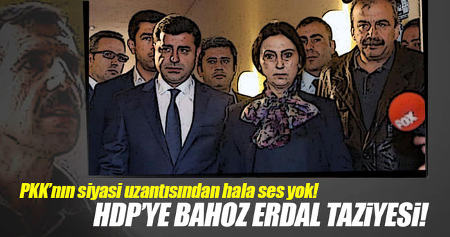 HDP'ye 'Bahoz Erdal' taziyesi