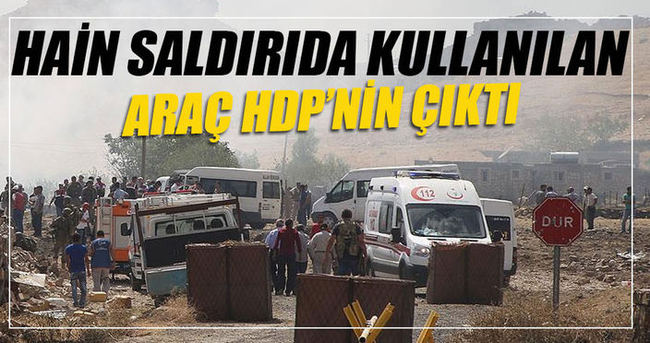 Terör saldırısında belediye araçları kullanılmış