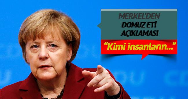 Merkel'den domuz eti açıklaması