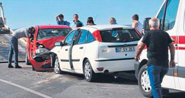 Denizli'de trafik kazası: 7 yaralı