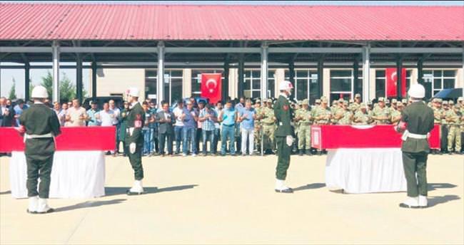 Van ve Mardin şehitleri törenle uğurlandı