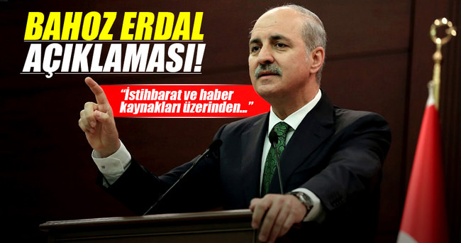 Numan Kurtulmuş'tan Bahoz Erdal açıklaması
