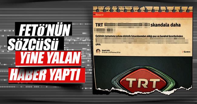 TRT'den Sözcü'nün iftira haberine yalanlama