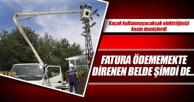 Kaçak elektrikleri kesildi!
