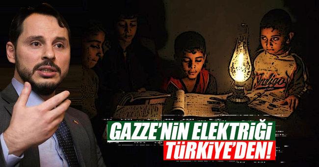 Gazze'nin elektriği Türkiye'den