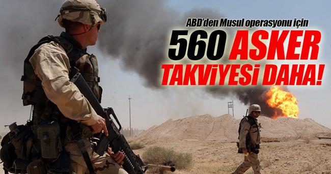 ABD'den Musul'a asker takviyesi