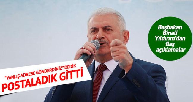 """Başbakan Binali Yıldırım: """"Diğer siyasi partilere bir önerim var"""