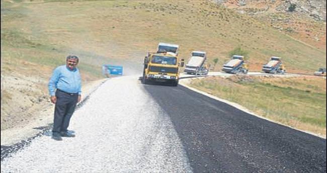 İmecik yoluna asfalt çalışması