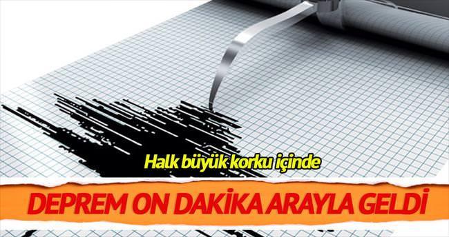 On dakika arayla iki şiddetli deprem