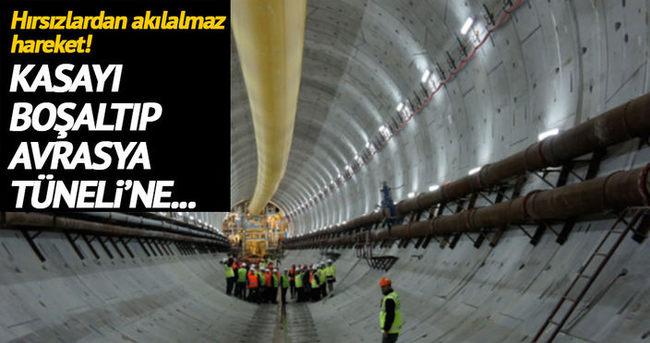 Hırsızlar boşalttıkları kasayı Avrasya Tüneli inşaatına gömmüşler!