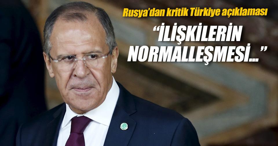 Lavrov: İlişkilerin normalleşmesi Suriye'ye olumlu katkı sağlayacak