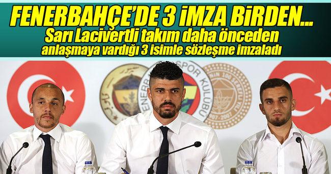Aatif Chahechouhe, Fabiano ve Ramazan, Fenerbahçe'ye imza attı!